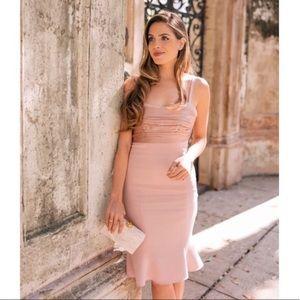 Cinq a Sept Paloma Peplum Hem Dress
